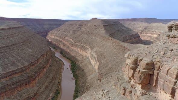 Thumbnail for Winding Narrow Riverbed of Colorado River. Grand Canyon National Park, Arizona. USA