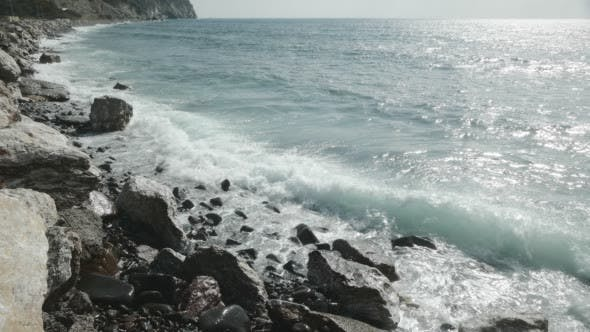 Thumbnail for Wave Crashes Onto the Rocks