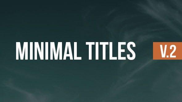 Thumbnail for Titres minimaux V.2