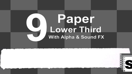 Thumbnail for Paper Lower Third