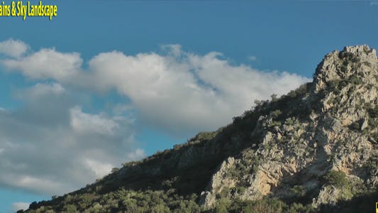 Thumbnail for Mountains & Sky Landscape