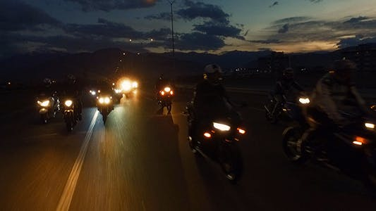 Thumbnail for Motorcyclist at Night 1