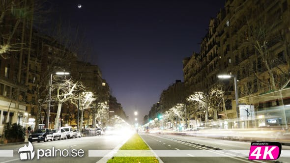 Barcelona Paralel Avenue Road Street Cars