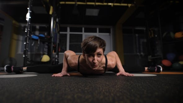 Thumbnail for Fitness, Sport, Training, Gym And Lifestyle Concept - Stretching Young Woman