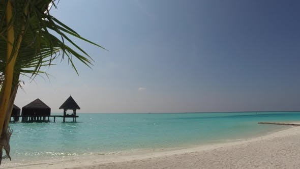 Thumbnail for Bungalow Huts In Sea On Tropical Resort Beach 25