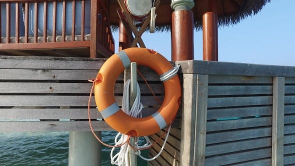Thumbnail for Beach Patio Or Terrace With Lifebuoy In Sea Water 2