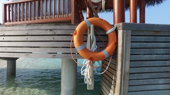 Thumbnail for Beach Patio Or Terrace With Lifebuoy In Sea Water 1