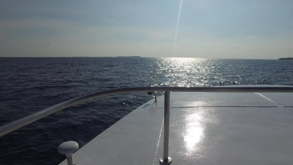 Thumbnail for Deck Of Sailboat Or Yacht Sailing In Sea 5