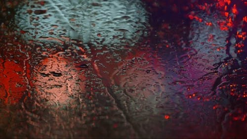 Raindrops On The Windshield, Focus On Raindrop