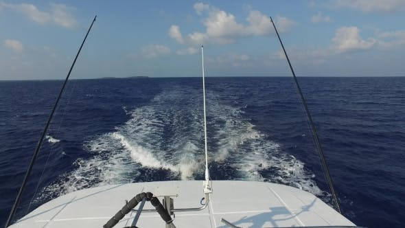Thumbnail for Deck Of Sailboat Or Yacht Sailing In Sea 7