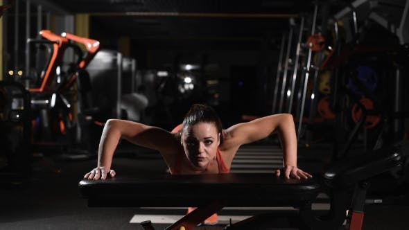 Thumbnail for Young Woman Making Exercise At The Gym