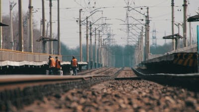 Rails For Rail Road Trains And Mirage