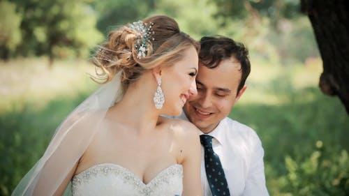 Wonderful Bridal Couple Smiling