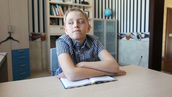 Thumbnail for Cute Blond Teenage Boy Study
