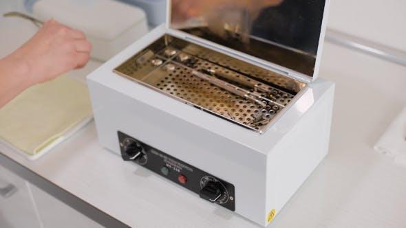 Manicure Accessories In Tool Sterilizer
