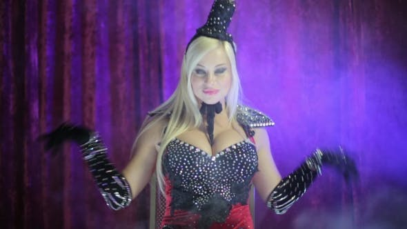 Thumbnail for Blonde Dressed In The Style Of Burlesque
