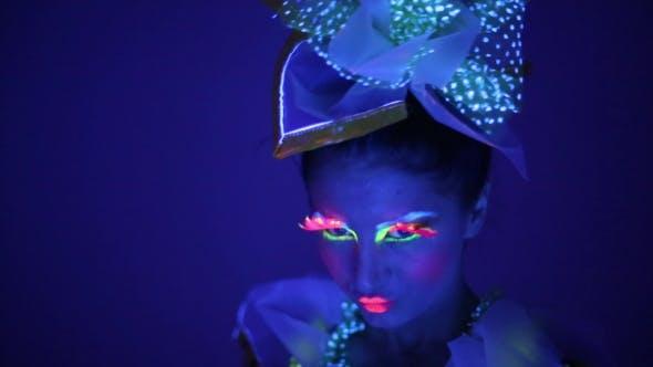 Of a Girl With Neon Face