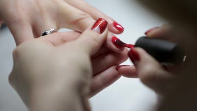 Of a Manicure In a Beauty Salon