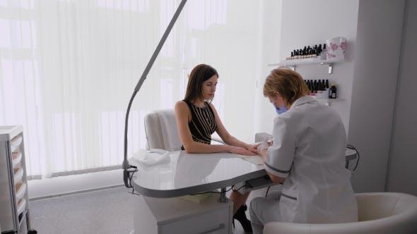 Women In Manicure Cabinet