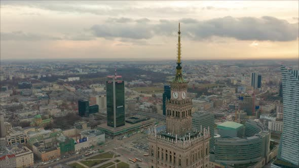 Thumbnail for Palace of Culture and Science Tower and Warsaw Panorama, Poland