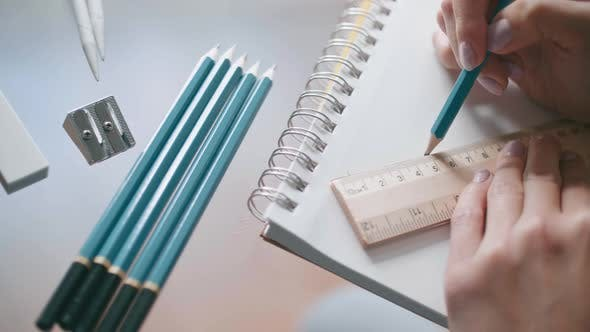 Using Ruler And Pencil