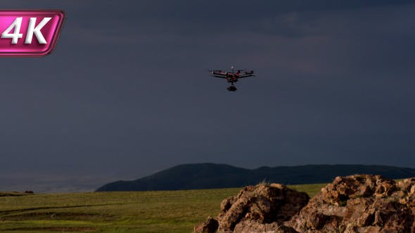 Cover Image for Drone Flying in the Sunset