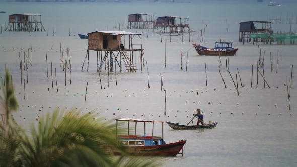 Cover Image for Fishing Boats Near Fishing Village