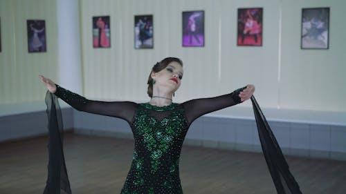 Girl Dancing Ballroom Dancing.