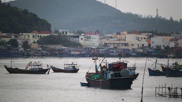 Thumbnail for Fishing Boats Near Fishing Village