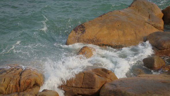 Thumbnail for Ocean Waves Breaking On The Rocks