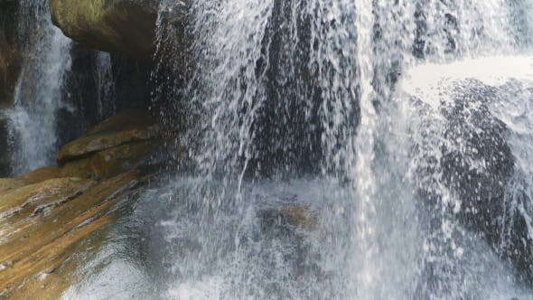 Cover Image for Waterfall In Tropical Forest