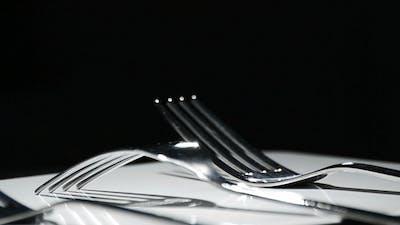 Metal Forks Cutlery Kitchen