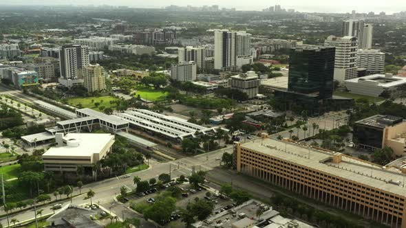 Thumbnail for Train Station Downtown Fort Lauderdale Fl Aerial Footage