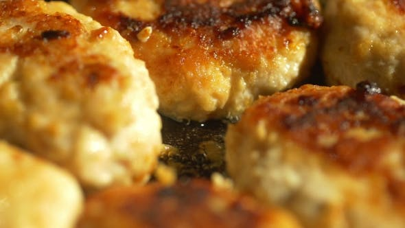 Thumbnail for Fried Pork Meatballs Or Cutlets In Frying Pan