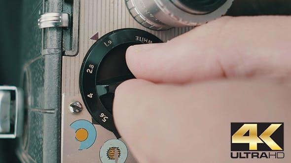 Thumbnail for Setting Aperture on Retro Reel Camera