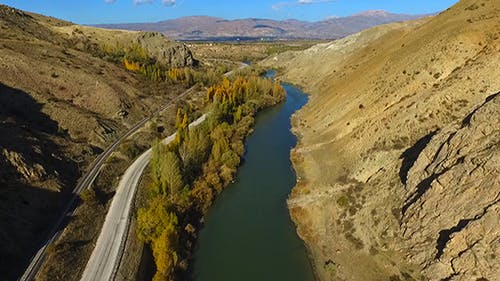 Aerial River and Road