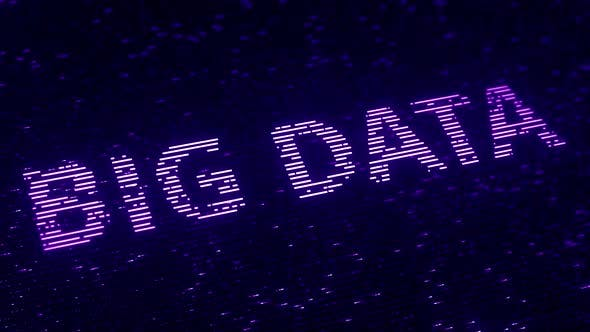 Thumbnail for Purple BIG DATA Words Made with Flying Particles