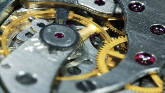 Cover Image for Mechanism Of Old Clock In The Work 12