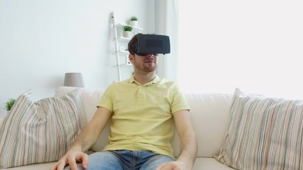 Thumbnail for Man In Virtual Reality Headset Playing Game