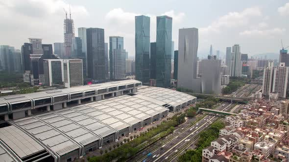 Thumbnail for Timelapse Shenzhen Convention Exhibition Center in Futian