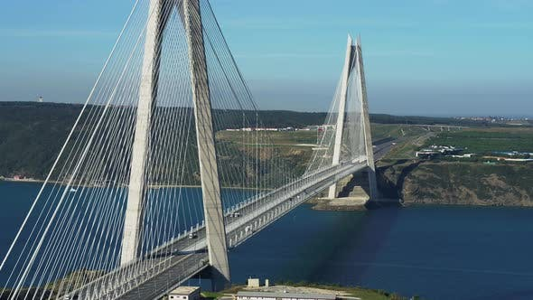 Thumbnail for Istanbul Yavuz Sultan Selim Bridge Aerial View 3