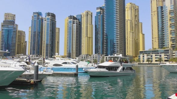 Thumbnail for Yacht Moored In City Harbor