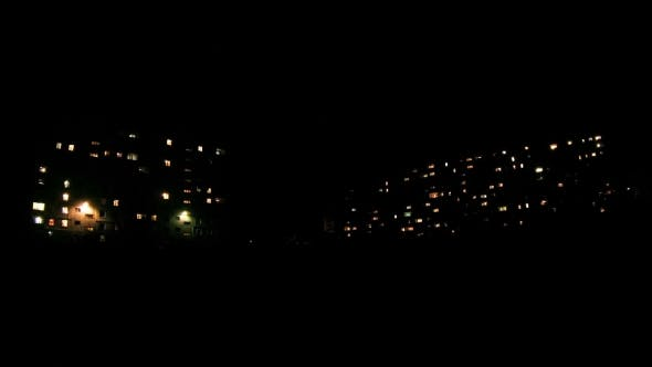 Thumbnail for Multistorey Building With Changing Window Lighting At Night.