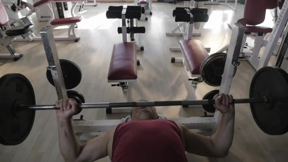 Thumbnail for Mature Man Doing Chest Press Exercise
