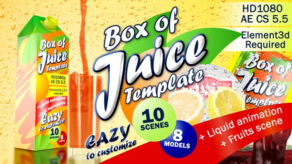 Thumbnail for Box of Juice Template