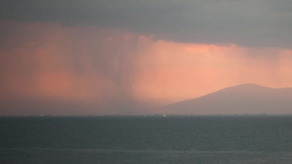 Thumbnail for Thunderstorm Over The Sea And City