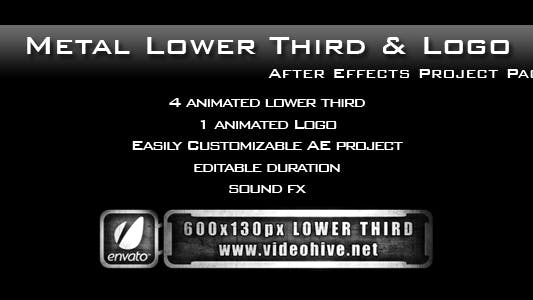 Thumbnail for Metal Lower Third & Logo AE Project PACK