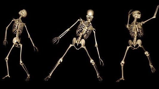 Skeleton Funny Dance