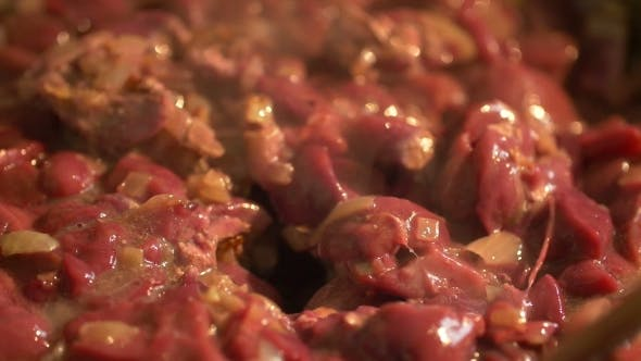 Thumbnail for Pieces Of Beautiful Red Beef.