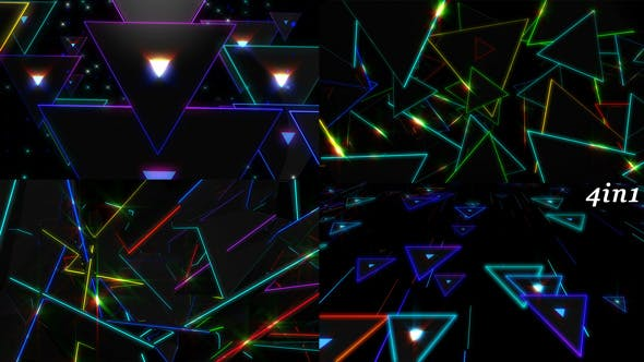 Thumbnail for Color Triangles - VJ Loop Pack (4in1)